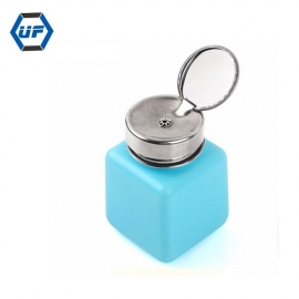 China 120ML Empty Liquid Alcohol Press Bottle Glue Residue Remover Clean Tool Portable Dispenser Pump Bottle factory