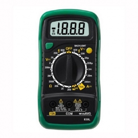China China Manufacturer OEM Cheap Mini 3.1/2 Palm-Size Pocket Hand held Digital Multimeter Volt Ohm Amp Tester factory