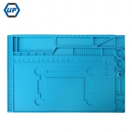 China KS-630018 Blue Silicone Heat Resistant Soldering Work Mat For Repairing Mobile Phone Laptop Motherboard factory