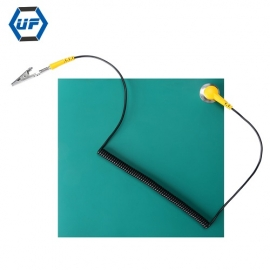 China Kingsdun 20*20cm Emerald Green ESD High Temperature Mat With ESD Grounding Cord and Antistatic Wrist Strap factory