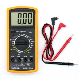 China Kingsdun Best Digital Multimeter LCD AC/DC Ammeter Resistance Capacitance EXCEL DT9205A factory