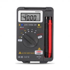 China Pocket portable handheld AC / DC precision 4000 word high precision measuring instrument digital multimeter VC921 factory
