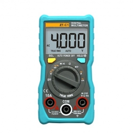 China The new ZT-C1 true RMS AC DC voltage current resistance ohm frequency continuity automatic range digital multimeter factory