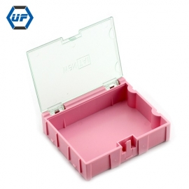 China UF-TOOLS Plastic Mini SMD Component Storage Box with 3#-pink factory